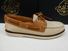 SPERRY MENS BOAT SHOE GOLD CUP A/O 2-EYE IVORY TAN SIZE 12