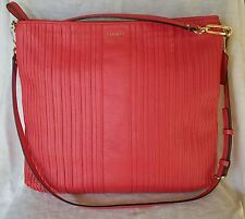 Coach MADISON PINTUCK lrg LOVE RED Leather  convertible Shoulder bag
