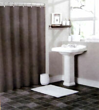SOLID WATER REPELANT BATHROOM SHOWER CURTAIN PLASTIC LINER DARK CHOCOLATE