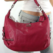 NWT Coach Madison Leather Hailey Shoulder Bag Crossbody Hobo Pink 18633 RARE