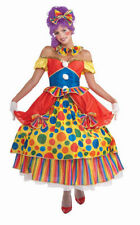 Adult Belle Of the Big Top Female Circus Clown Costume Dress - Fast Ship -