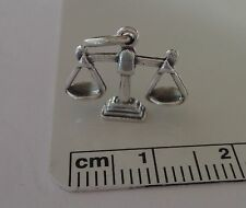 Sterling Silver 3D 13x17mm Scale Scales of Justice Libra Charm