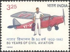 India 1982 Civil Aviation/Aircraft/Planes/Transport/Commerce/People 1v (n23428)