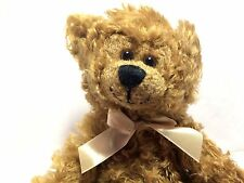 """Teddy Museum Vintage 1988 LE #25 Mohair Brown Bear Gold Bow 10"""" Jointed Plush"""