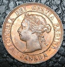 OLD CANADIAN COIN 1895 - ONE CENT LARGE CENT - Victoria - Nice Coin