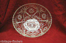 "Vintage Anchor Hocking EAPC Clear Glass 10-3/4"" Serving Bowl Dish Star of David"
