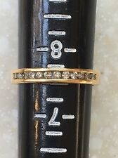 10k Solid yellow Gold MOM ring ,024 Carat Round  Diamonds 3.3 Grams Ring