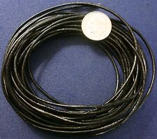 15 feet 1.5mm Black leather lace, beading thong necklace & bracelet cord  m031