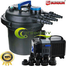 Combo Kit 5000 Gal Pressure Filter 11-UV Sterilizer Koi Fish 1375 GPH Pond Pump