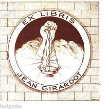 EX-LIBRIS de Jean GIRARDOT.