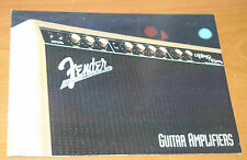 Vintage FENDER guitar amp catalogue from 1993 - amplifier