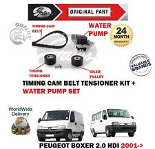 FO PEUGEOT BOXER 2.0 HDi 84BHP 2001-  TIMING CAM BELT TENSIONER KIT + WATER PUMP