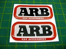 2 Domed ARB stickers 63mm x 30mm All Models