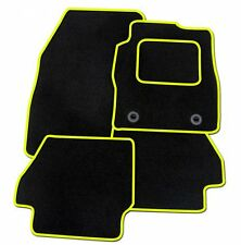 PEUGEOT 207CC TAILORED BLACK CAR MATS WITH YELLOW TRIM