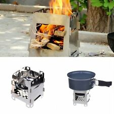 Stove Stainless steel portable Wood Kitchen Lightweight Folding Outdoor Camping