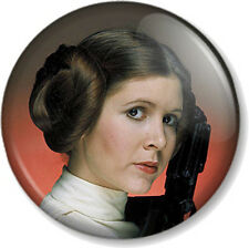 """Princess Leia 25mm 1"""" Pin Button Badge Star Wars Movie Character Carrie Fisher"""