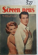 SCREEN NEWS 1962 OCT 26,ROCK HUDSON GENA ROWLANDS COVER,VIVIEN LEIGH