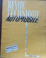 Revue technique RENAULT COLORALE moteur 85 RTA 83 de 1953 MOTEURS CUMMINS suite
