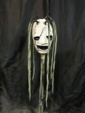 "SLIPKNOT COREY TAYLOR LATEX MASK 8 JUTE TWINE DREADS  ""DIRTY VERSION"""