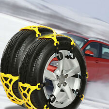 Universal Car Van Snow Tire Anti-skid Chains Beef Tendon TPU 6PCS for Two Wheels