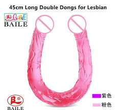 *** NEW HUGE DOUBLE ENDED SEX_DILDO ANAL_TOY MALE FEMALE LESBIAN DONG 44CM ***