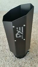 "Diesel octagon exhaust tip 4"" inlet 6"" outlet gloss black"
