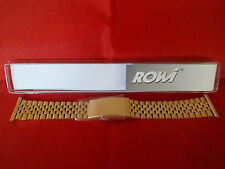 ROWI HITEC GOLD STAINLESS STEEL WATCH STRAP 22MM STRAIGHT  ENDS