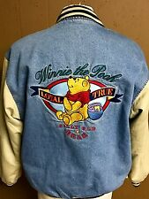Disney Store Winnie the Pooh Denim Jean Jacket Varsity Coat Quilted Mens Size XL