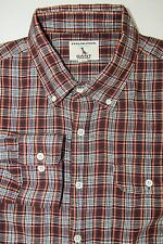 GANT by Michael Bastian Exploration Galapagos Button Down Shirt Red Gray Plaid