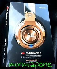 Monster ELEMENTS Over Ear Wireless Bluetooth Headphones NEW Sealed Rose Gold DJ