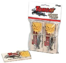 (36) MOTOMCO 33507 TOMCAT 2pk WOODEN OLD FASHIONED SPRING SET MOUSE TRAPS