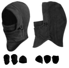2 X Winter Thermal Fleece Balaclava Full Face Ski Mask Motorcycle Hat Cap Unisex