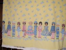 Patty's Paper Doll Fleece Fabric by Patty Reed, Double Border, Daisy, Yellow