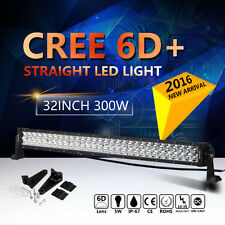 "6D+ CREE 300W 32INCH 32"" LED WORK LIGHT BAR COMBO SPOT FLOOD LAMP OFFROAD UTE"