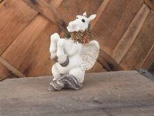 PEGASUS FIGURINE--Cute Pegasus Flying Horse Sitting Up #3831