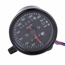LED Motorcycle Odometer Speedometer Tachometer Speedo Meter Black Backlight