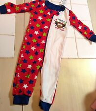 New Baby Pajamas Size 3 6 Months Monkey Mommy`s Little Rocker Stars Zipper Tcp