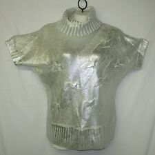 Baby Phat Metallic SILVER Painted Cable Knit Kimono Sweater Plus Size 2X NWOT