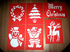 Christmas Stencils 6 - Window Snow etc on card BN