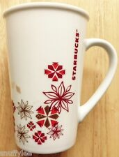 2013 STARBUCKS BARISTA HOLIDAY TALL LATTE COFFEE MUG, WINTER SNOWFLAKE DESIGN