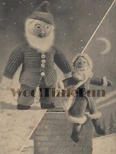 Vintage Knitting Pattern Father Christmas/Santa Clause & Gnome Toy