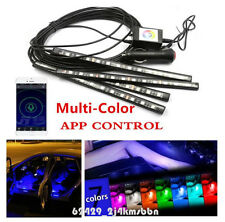 Car Footwell Atmosphere Mood Decor 12 LED RGB Lights Phone APP Control For Audi