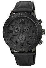 Citizen DRIVE AT2205-01E Men's BRT Black IP Brown Leather Band Chronograph Watch