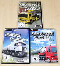 3 PC SPIELE SAMMLUNG ABSCHLEPPWAGEN TANKWAGEN SCHWERTRANSPORT 2011 SIMULATOR