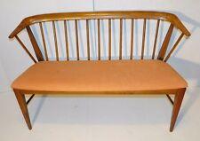 Vtg 1960's Danish Mid Century Modern Deacon's Bench Chair Scandinavian Wegner