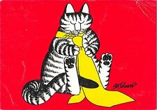 B98627 cat chat with tie human atittude postcard  animals animaux