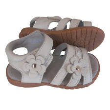 NEW 100% Leather Sandals white appx 1-5yrs girls baby toddler child kids shoes