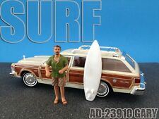 SURFER GARY FIGURE FOR 1:24 SCALE DIECAST MODEL CARS AMERICAN DIORAMA 23910