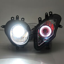 Projector HID Headlight White Angel Red Demon Eyes For BMW S1000RR 2009-2014