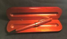 Johnnie Walker Wood Themed Pen w/Gold Trim, Laser Etched , Matching Wood Case